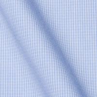 明るいブルーをベースに、白のチェックのラインが入っています。ツルツルとした生地感に、明るいブルー。どう着こなすかは、あなた次第!