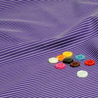 ボタンと濃いめ紫 ストライプの生地