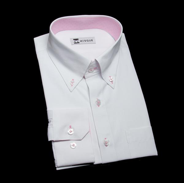 襟&カフスの裏地切り替え(オプション仕様)シャツ