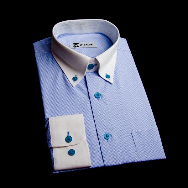 ボタンダウンカラー(ポロカラー)のオーダーシャツ