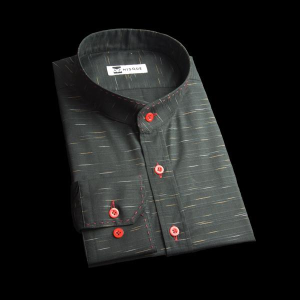 スタンドカラー(バンドカラー)のオーダーシャツ