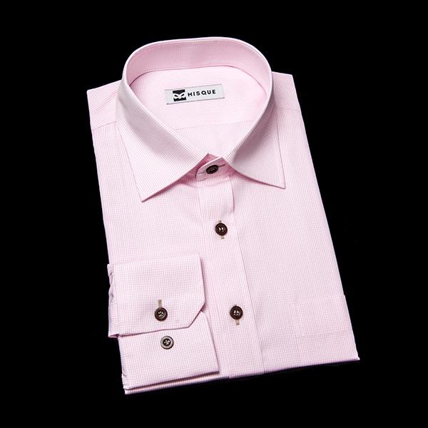 ピンクチェックシャツ